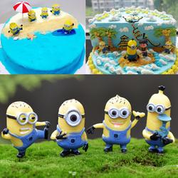 烘焙生日蛋糕装饰摆件 神偷奶爸小黄人卡通动漫 情景装饰品4款