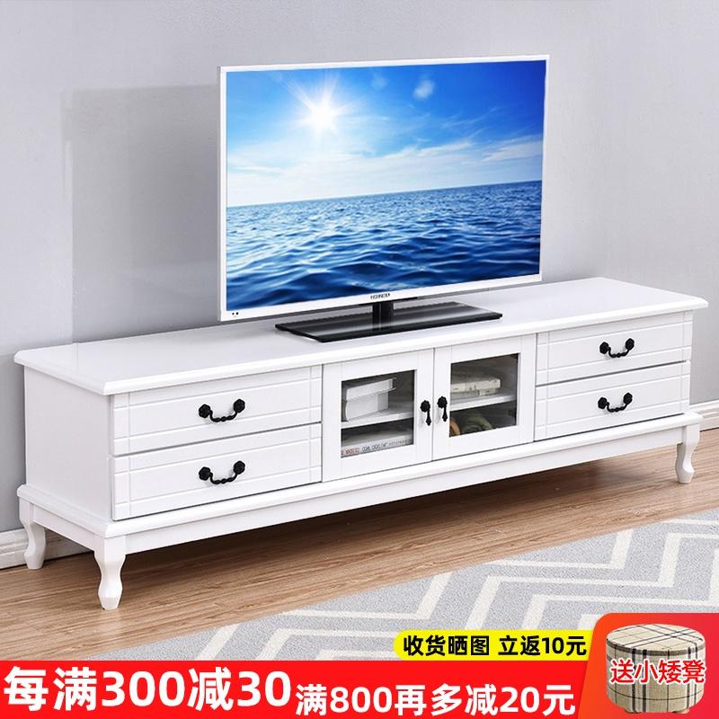 欧式实木电视柜茶几组合现代简约小户型客厅卧室美式家用电视机柜