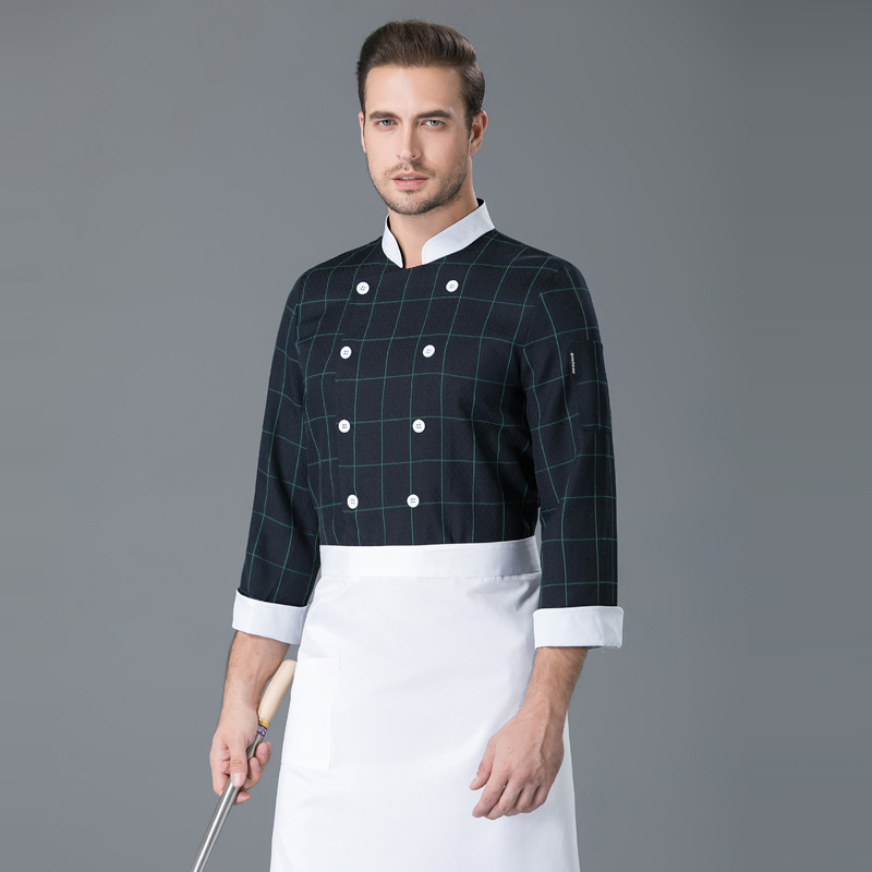 Bakery master tooling baristas uniform sushi pastry chef clothes cooking chef work clothes autumn winter long sleeves