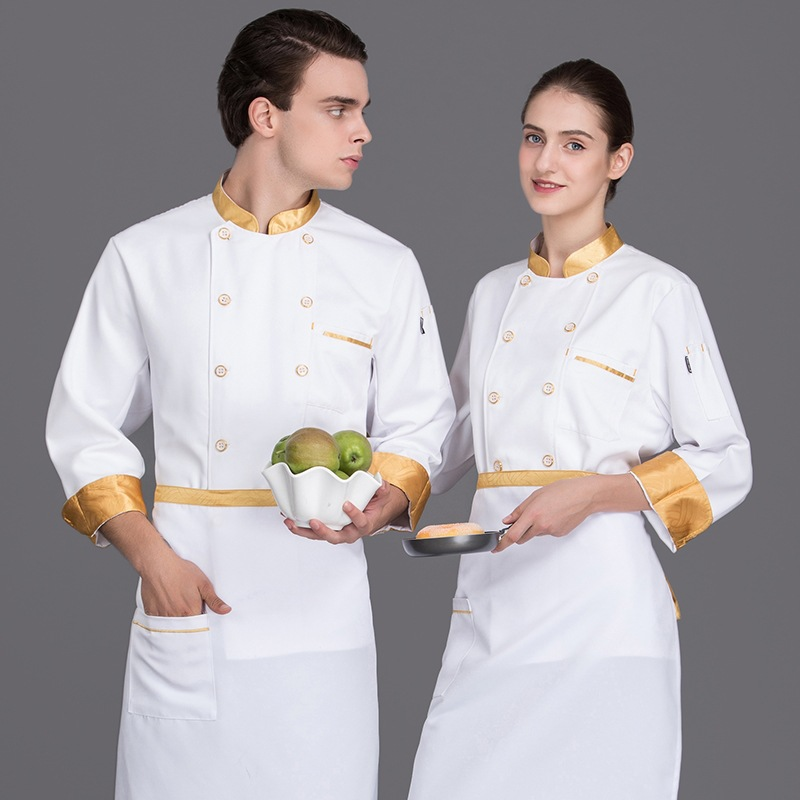 Chefs clothes long sleeve cake makers work in five star hotel