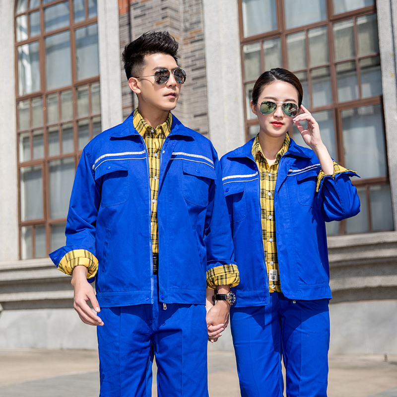 Petrochemical gas station work clothes oiler uniform gas station gas station gas station electrician anti static long sleeve in autumn and winter
