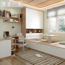 ins榻榻米床定制小户型升降台组合现代简约储物床衣柜书柜一体床图片