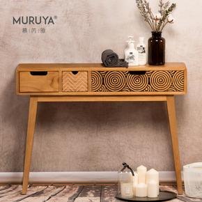 慕芮雅玄关桌实木柜条几北欧门厅ins边柜现代简约条案窄桌玄关台