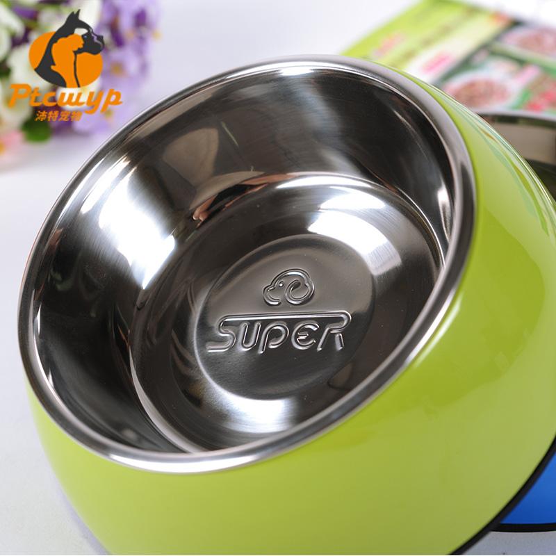 狗碗泰迪狗食盆不鏽鋼貓糧飯碗大型犬寵物雙碗水盆狗糧休普碗用品