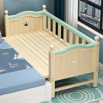实木儿童床带护栏加宽拼接大床婴儿男孩女孩宝宝公主床边床单人床