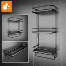不锈钢厨房置物架304卫浴用品置物架浴室挂件卫生间化妆品架