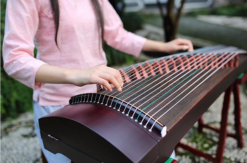 1.3米梧桐木素面便携迷你式初学入门专业考级演奏乐器小古筝