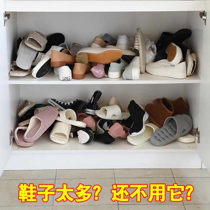 大容量收纳鞋架双层鞋托家用简易门口宿舍鞋子收纳神器鞋柜整理架热销102件不包邮