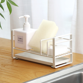 海绵沥水收纳架洗碗水池置物架厨房用品水槽台面免打孔抹布架神器图片