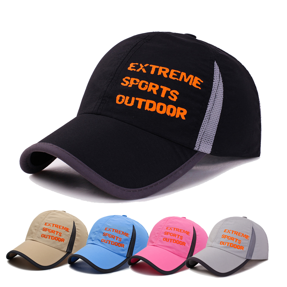 Quick drying mountaineering mens and womens hat outdoor sports fishing hat thin breathable baseball hat travel sunshade hat leisure hat