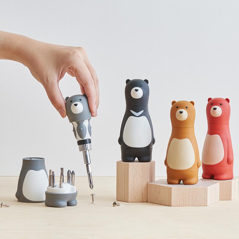 正版卡通熊爸爸组合多功能创意螺丝刀工具送老公  特别生日礼物