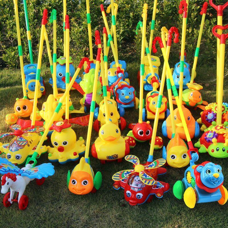 儿童婴儿宝宝小手推车玩具推推乐单杆手推飞机学步走路娃娃手推车图片