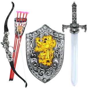 传统玩具弩宝剑盾牌组合男孩玩具礼物 儿童弓箭吸盘射击玩具套装