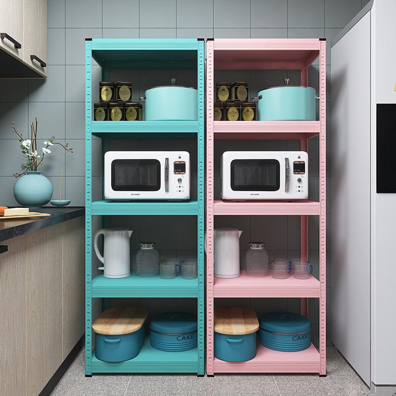 碳钢加厚厨房置物架落地式多层微波炉烤箱架子收纳架 峰阳放锅架