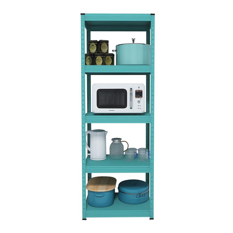 蒂芙尼蓝色厨房置物架落地式 微波炉烤箱多层家用储物收纳架子