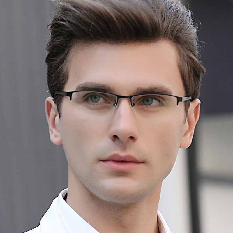 Equipped with finished myopia spectacle frame, mens half frame spectacle frame, color changing glasses, flat light full frame spectacles, myopia glasses TR90