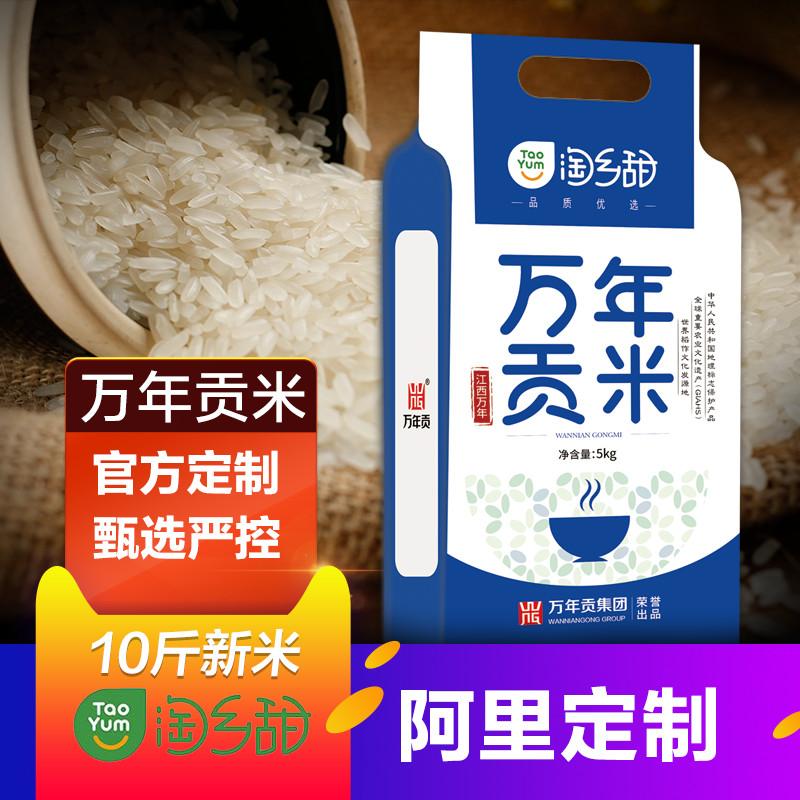村淘定制 淘乡甜 万年贡米 大米5kg 长粒新大米10斤籼米香米