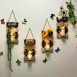 卧室墙壁装饰挂件创意餐厅房间客厅墙上墙面水培花瓶家居壁挂饰品