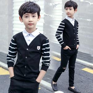 男童条纹2020新款春装儿童韩版衬衫