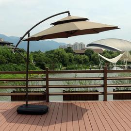 户外遮阳伞3米大太阳伞室外摆摊庭院伞岗亭保安香蕉伞罗马伞 折叠