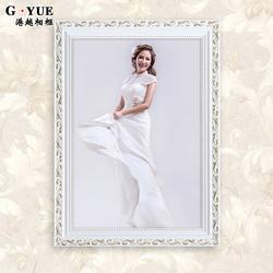 欧式实木相框创意挂墙7 16 20 24寸婚纱照洗照片加带冲印摆台定做