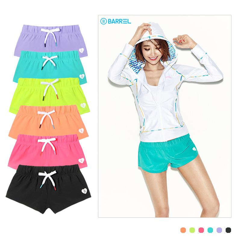 Спортивный для отдыха Фитнес сплошной цвет пляжные брюки женские шорты плотный тощий плавательный горячий весенний серфинг быстросохнущие брюки