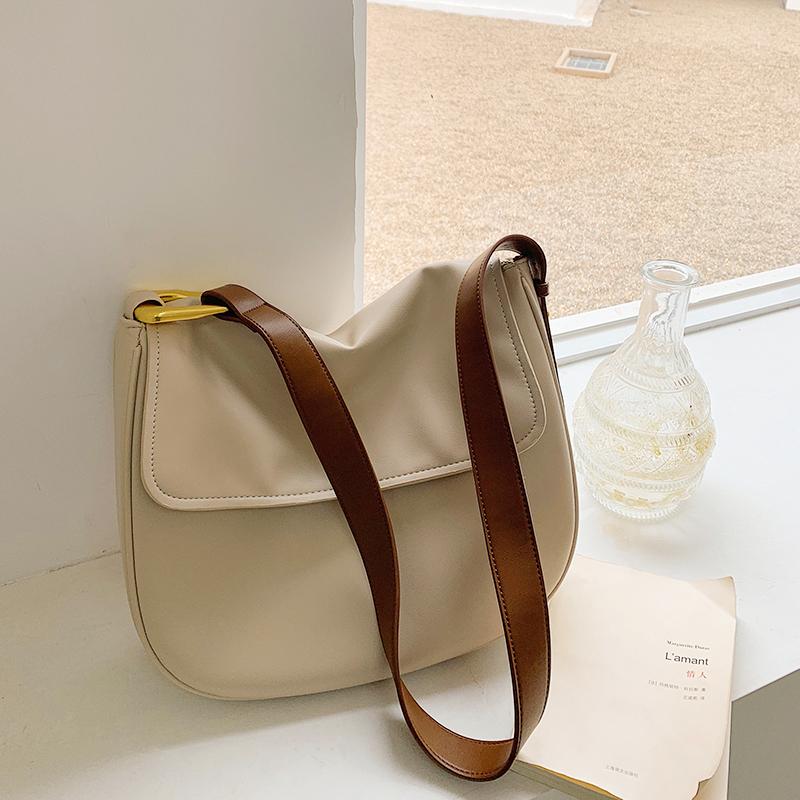 LOSEA 软皮小众包包女大容量托特包女包2021新款潮时尚单肩斜挎包