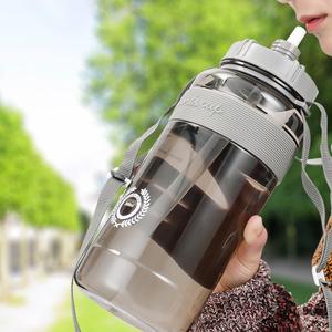 大容量塑料水杯男健身便携太空杯户外带吸管运动水壶杯子2000ml