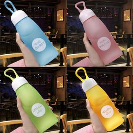 儿童水杯子塑料便携防摔磨砂小学生韩国清新可爱韩版创意潮流水瓶