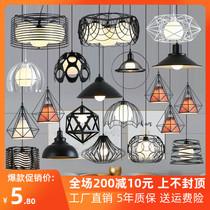 餐厅吊灯三头创意个姓北欧单头灯工业风现代简约过道吧台餐吊灯具