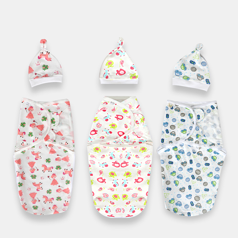 Anti startle baby quilt summer thin newborn sleeping bag small quilt newborn baby wrapped towel
