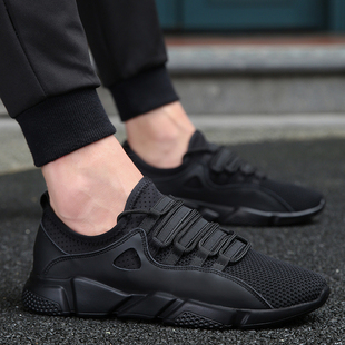 Summer 2017 new black shoes male tide shoes Korean wild casual men deodorant breathable mesh sneakers