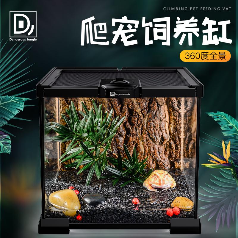 爬虫雨林水陆爬宠寄居蟹玻璃饲养箱