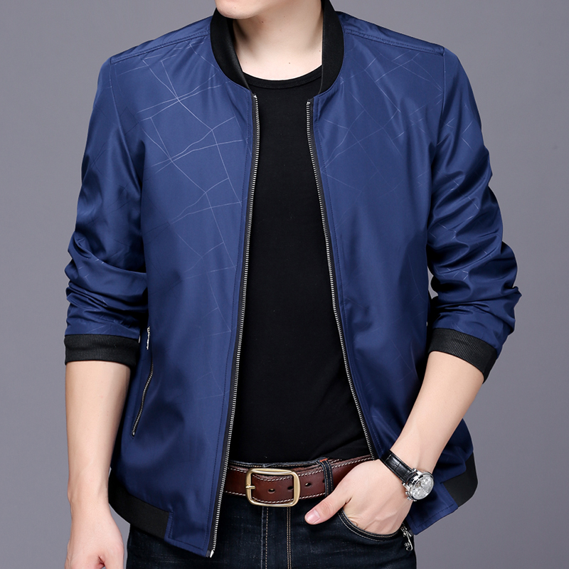 Spring 2020 middle aged mens jacket thin coat 30 leisure middle aged and old mens leisure fathers coat