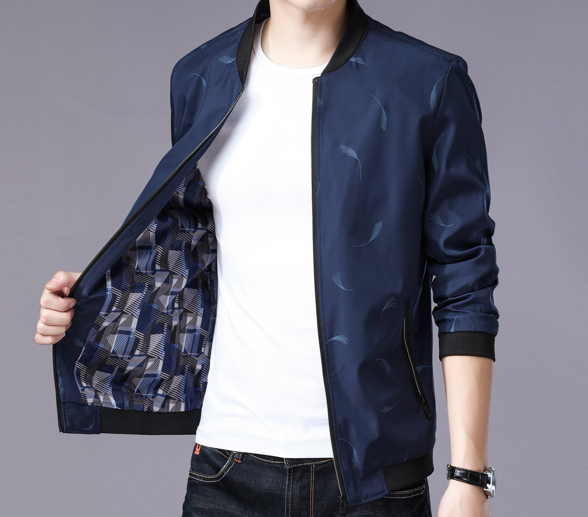 Autumn 2018 middle aged mens jacket fathers business casual middle aged mens jacket