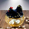 ceramics Egg basket Iron art Storage basket kitchen decorate originality kitchen Fruit Basket Egg Basket Restaurant Swing sets Basket