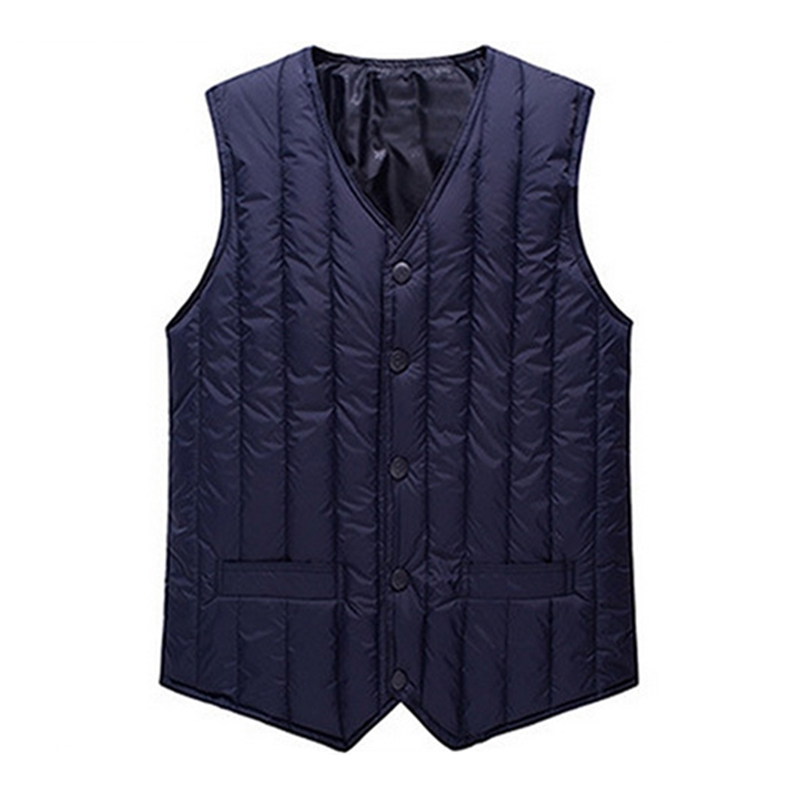 Off season mens down cotton vest for middle-aged and old mens warm waistcoat for father
