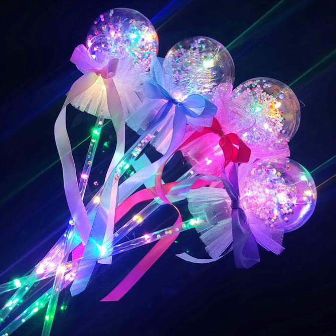 网红波波球魔法棒发光棒闪光棒儿童发光 款 玩具地摊夜市货源 新