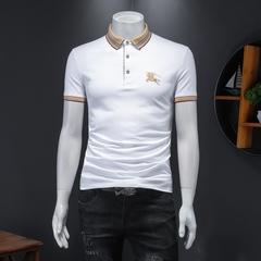 D322 H032 P85 2021夏季新款丝光珠地棉男士短袖翻领polo衫假模白