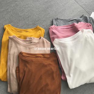 秋季单品舒适长袖打底衫棉质贴身