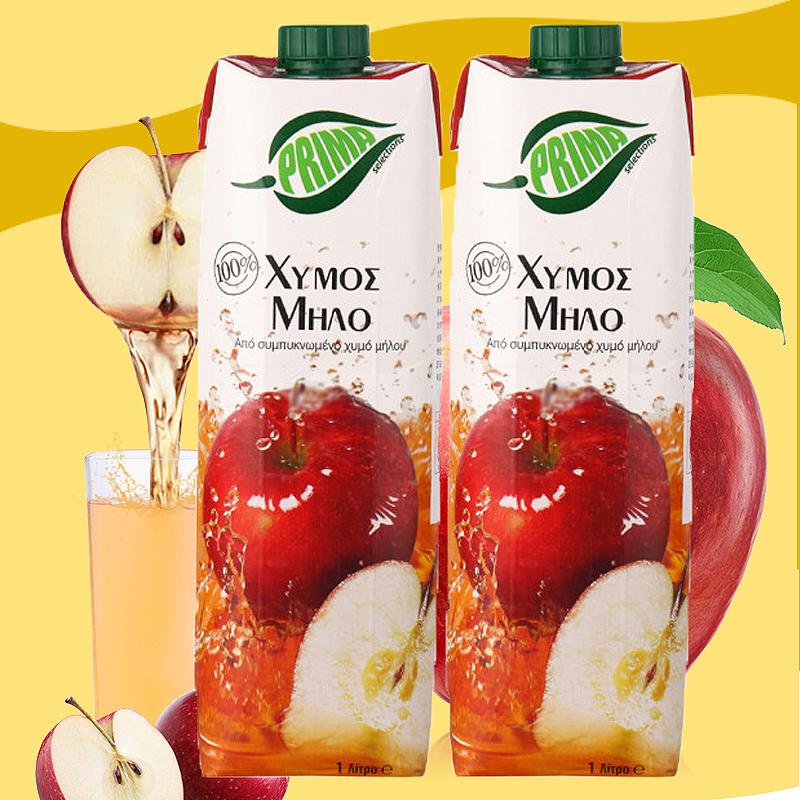 塞浦路斯进口prima 100%苹果汁