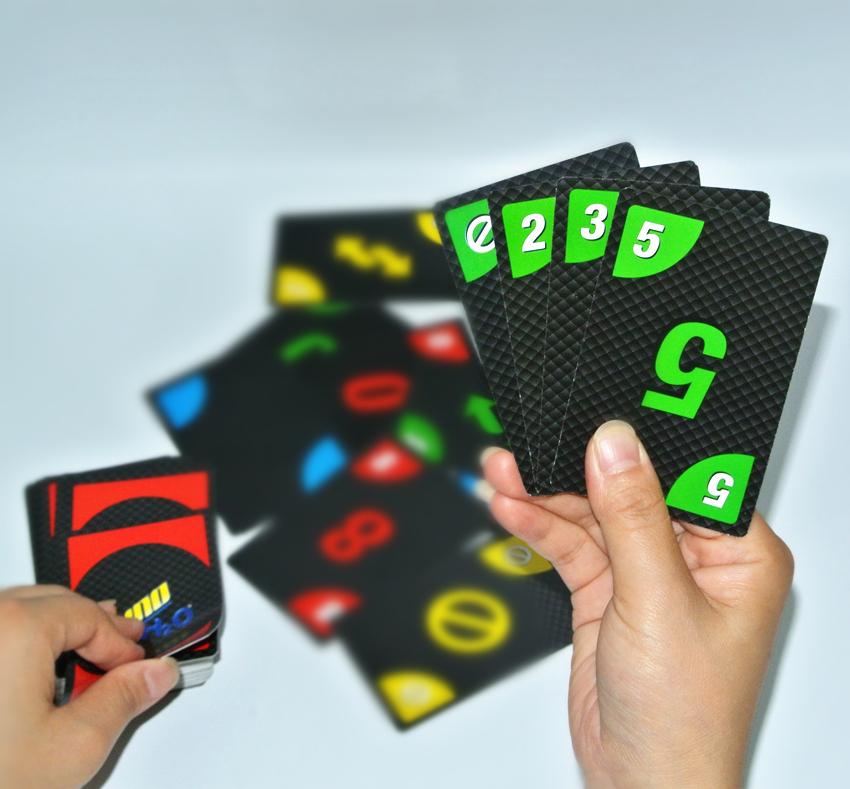 Бесплатная доставка стол тур черный uno бумага карты отлично обещание карты кано PVC пластик черный обещание карты группа наказание игра карты