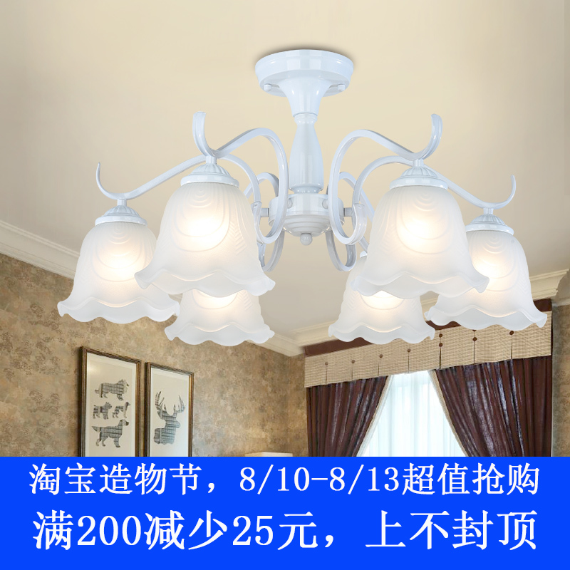 欧式新款卧室餐厅铁艺术复古吊灯