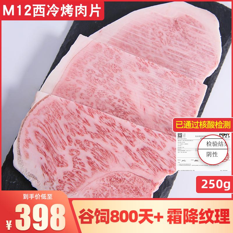家庭烤肉片 澳洲M12西冷牛排雪花和牛250g媲美A5日韩式烧烤牛肉片
