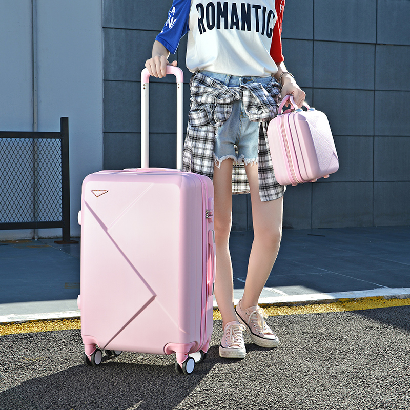 Luggage net red trolley case 20 female password suitcase Korean ins Chao men 24 leather case universal wheel trunk