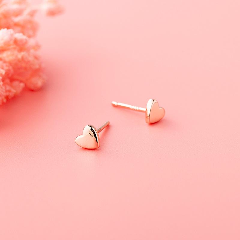 Sterling Silver S925 Small Love Earrings simple and versatile ins sweet beauty lovely earrings earrings