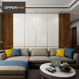 欧铂尼木门背景墙护墙板定制家用客厅墙面装饰板卧室墙体极简系列
