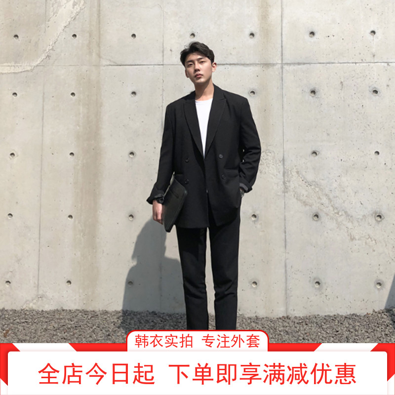Suit suit mens Korean fashion jacket spring and autumn young mens fashion casual loose small suit