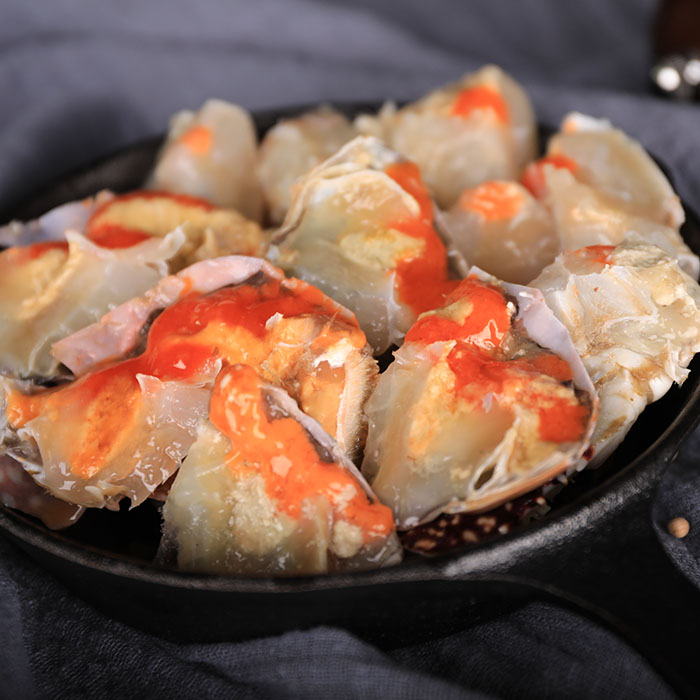 Xus mothers seafood products: hand pickled crab with red paste