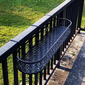 阳台栏杆挂式花架多层肉悬挂装饰花盆架铁艺花架子置物架窗台窗沿